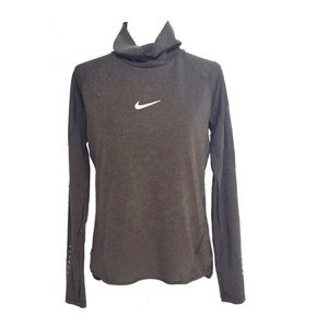 Nike Dri-Fit green black long sleeve athletic top